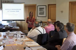 English Toastmasters Association meeting with guest speaker web site specilaist Sue Lees